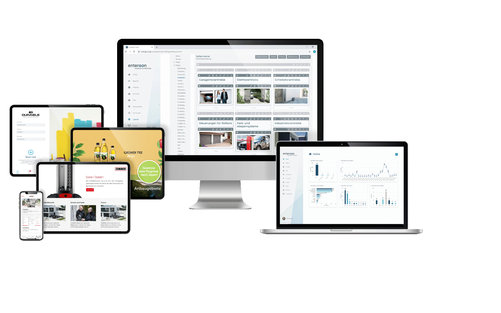 Multimedia content at displays, tablets and touchscreens