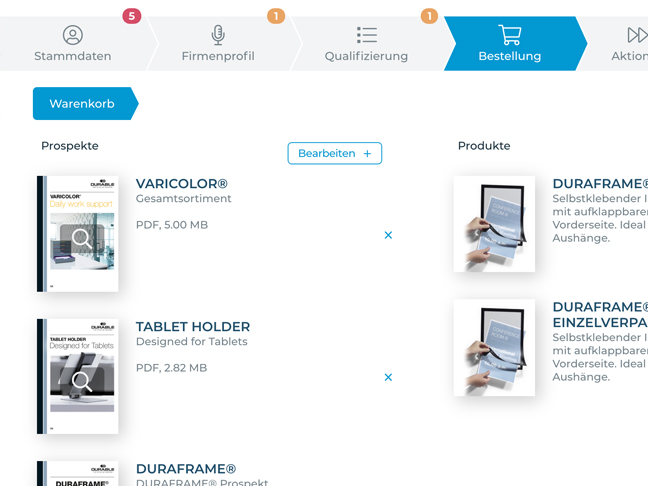 Screenshot app function shopping cart